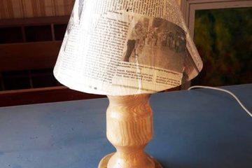 Lampe en bois artisanale tourné moyenne