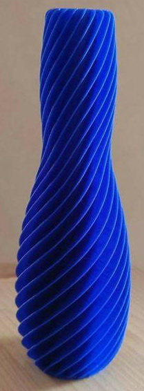 Vase Design & Décoration rond/bleu